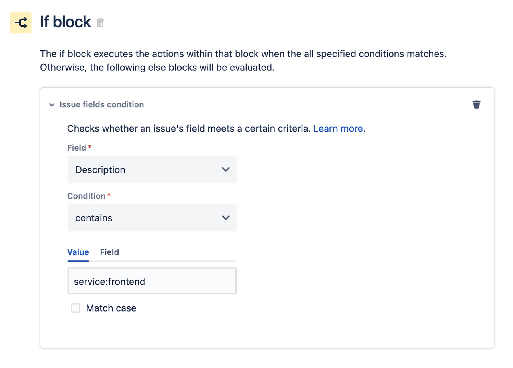 If block window