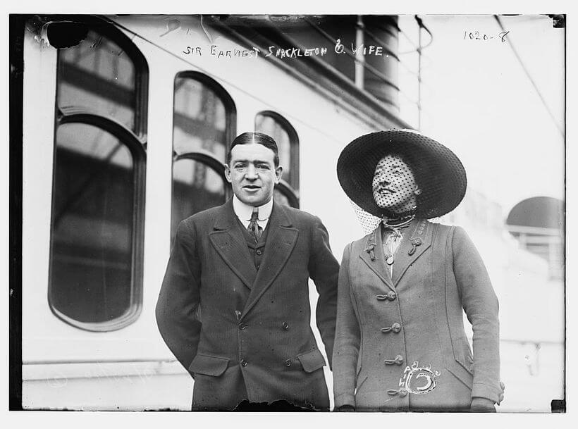 Photo of Shackleton with a woman