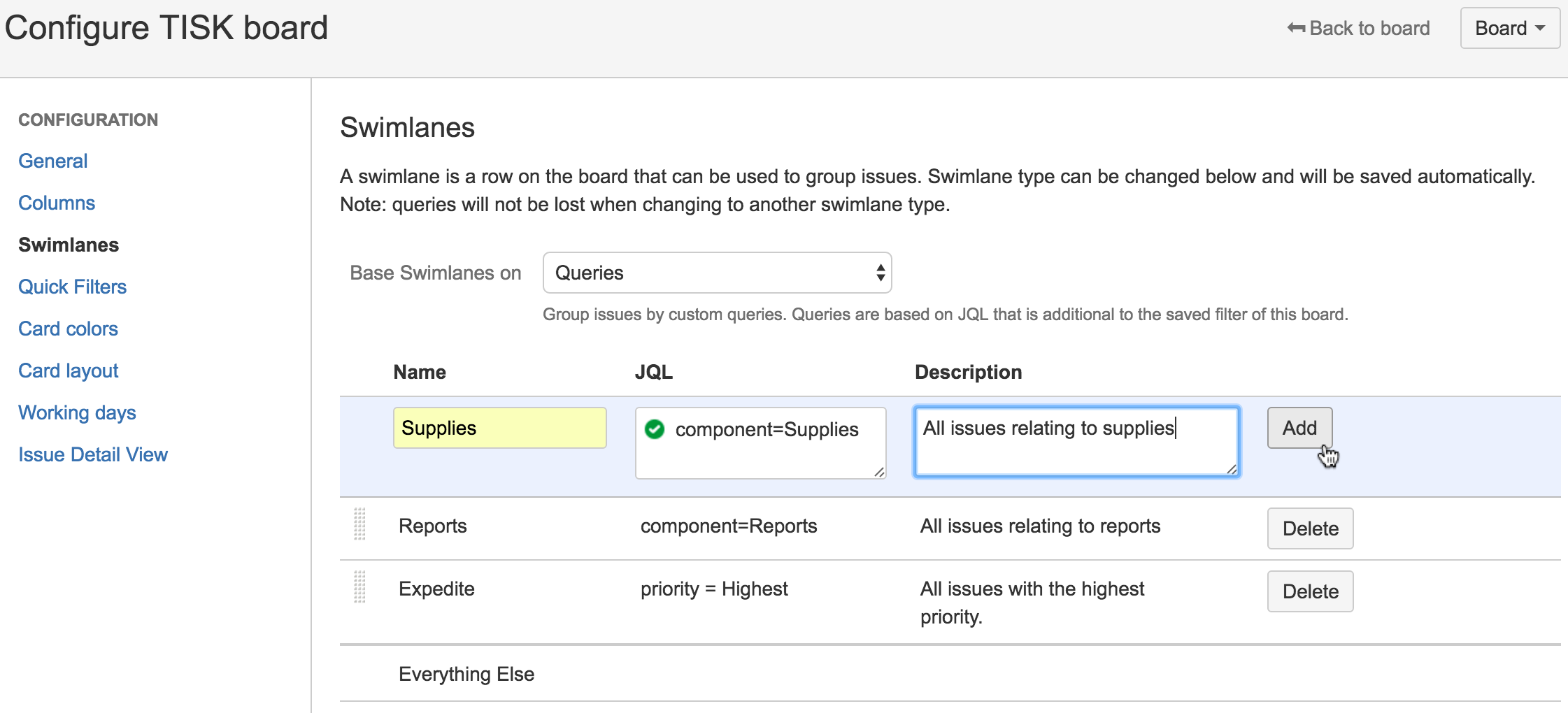 Configurer des swimlanes  Atlassian– Le coach Agile