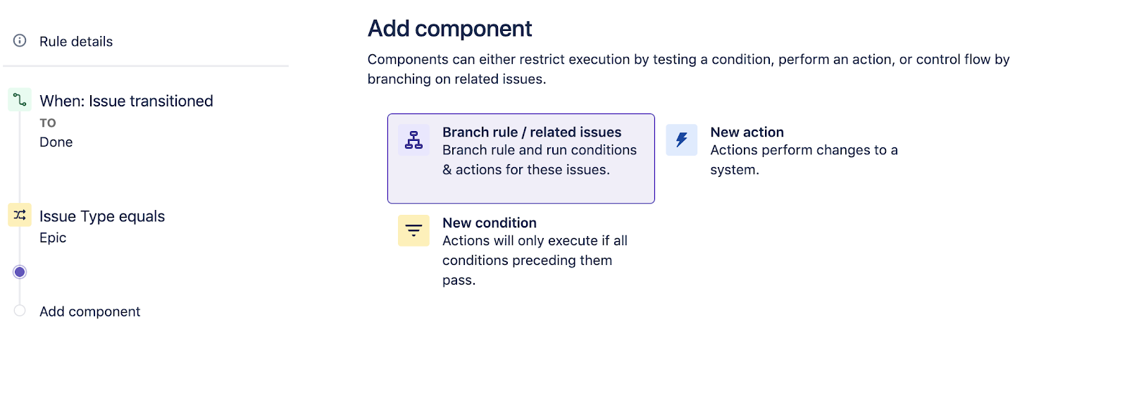 Add branch rule component