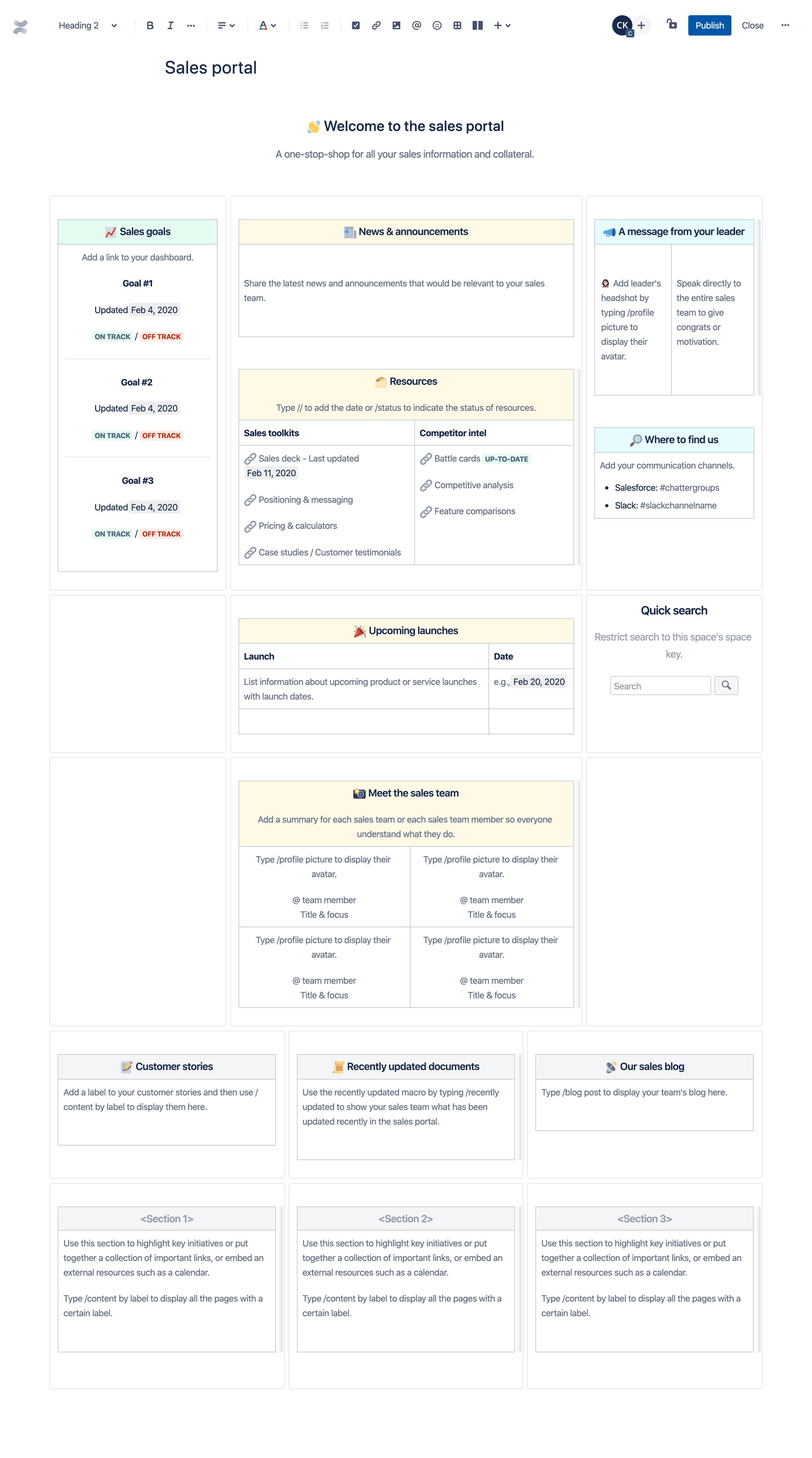 Шаблон портала для продавцов