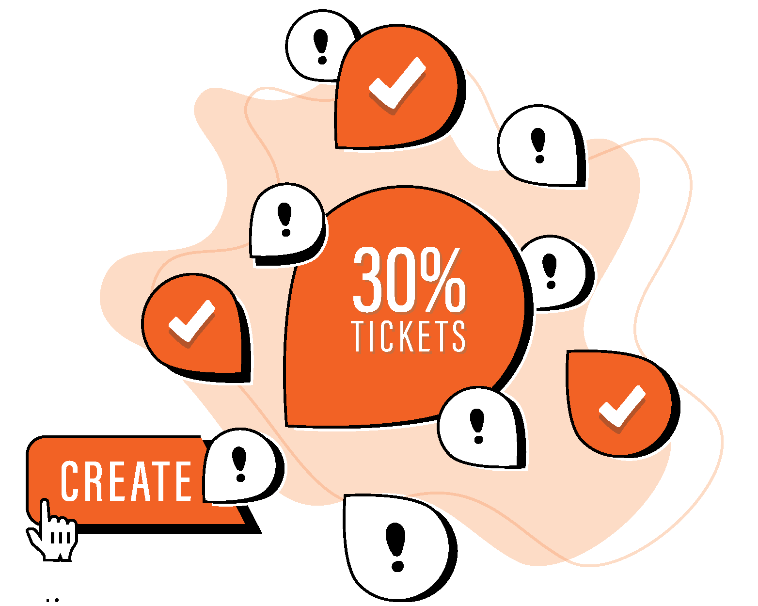 Create 30% tickets graphic