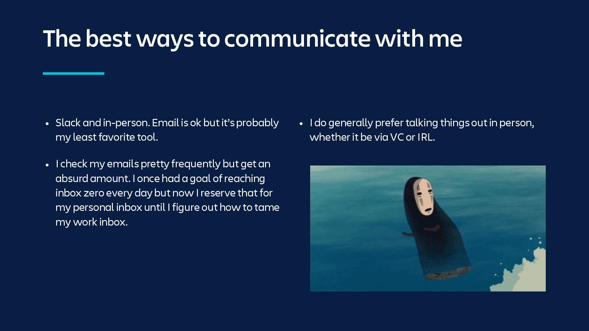 最良のコミュニケーション方法についての説明