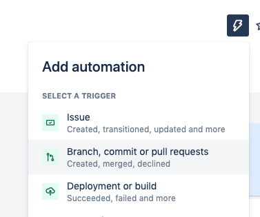 Step 1 in adding an automation in Jira on Jira project page