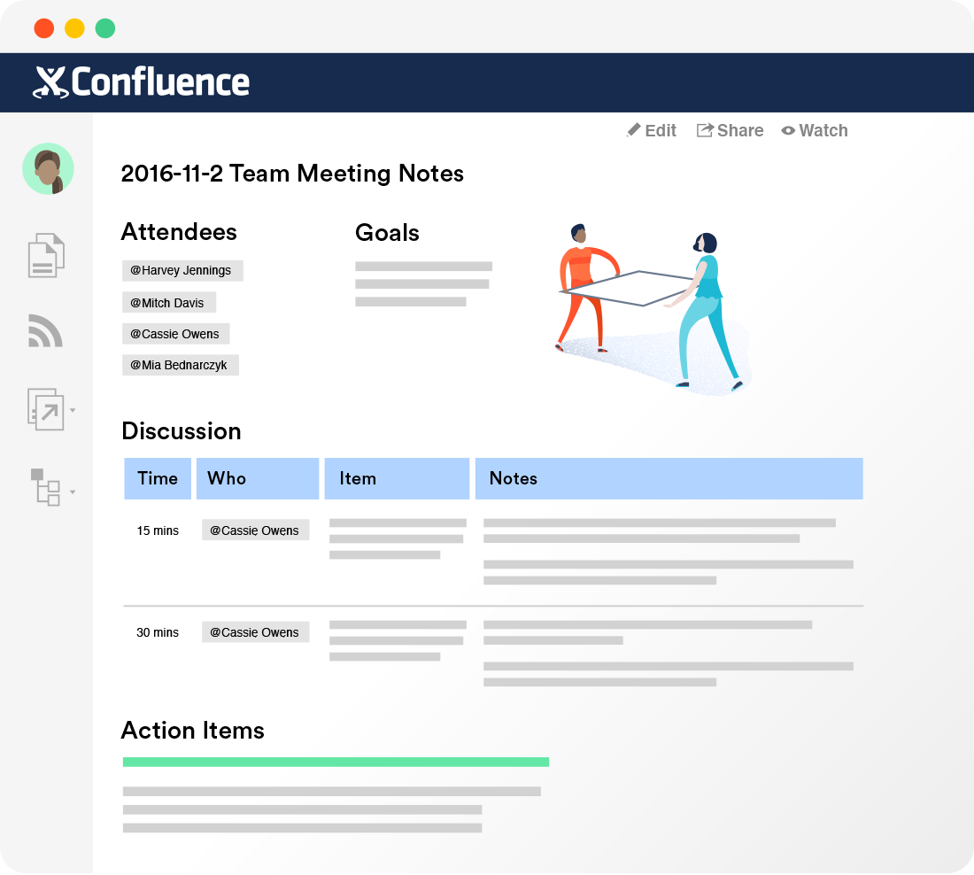 Confluence – Dokumentationssoftware für Teams