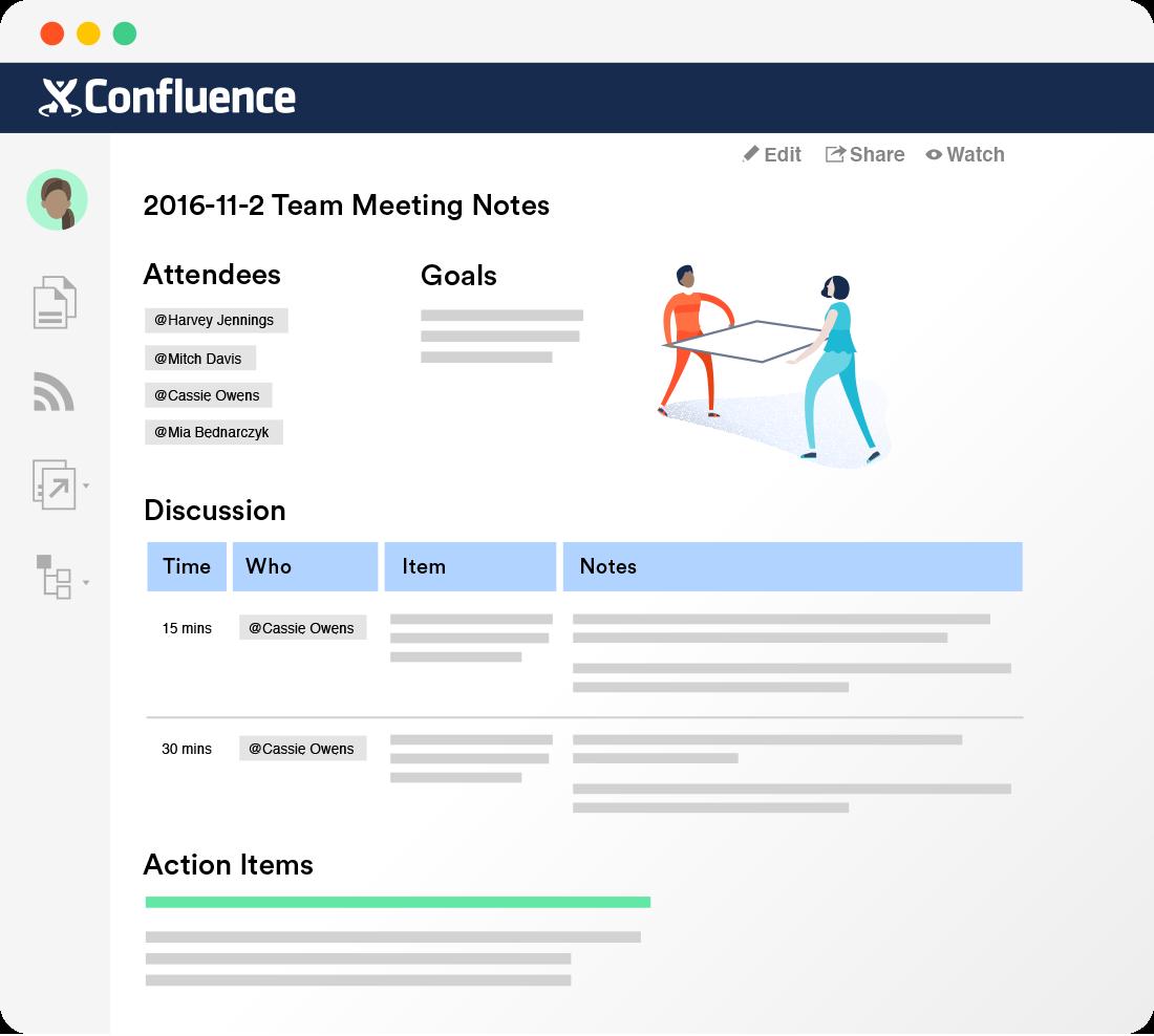 Confluence 팀 문서화 소프트웨어