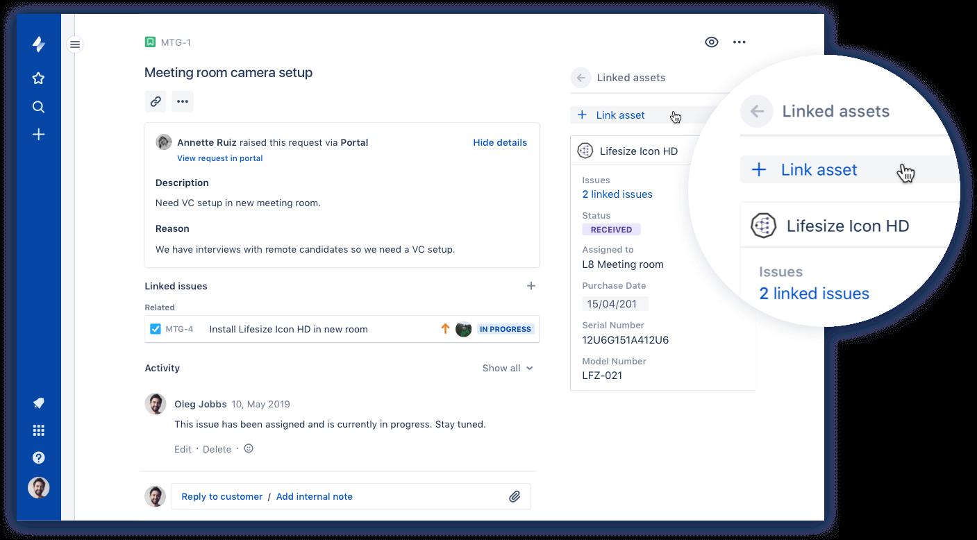 アセット管理のスクリーンショット
