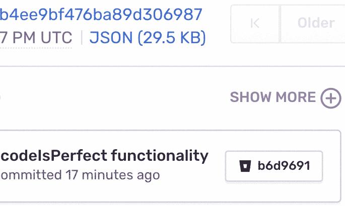 Sentry Commit data