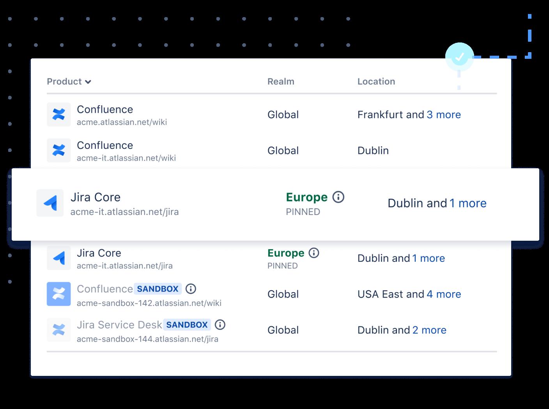 Admin data residency screenshot