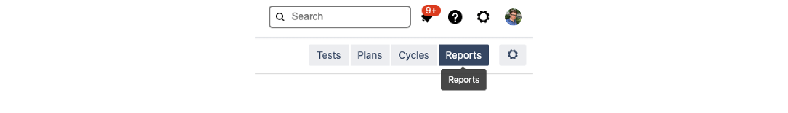 Reports tab in Zephyr Scale