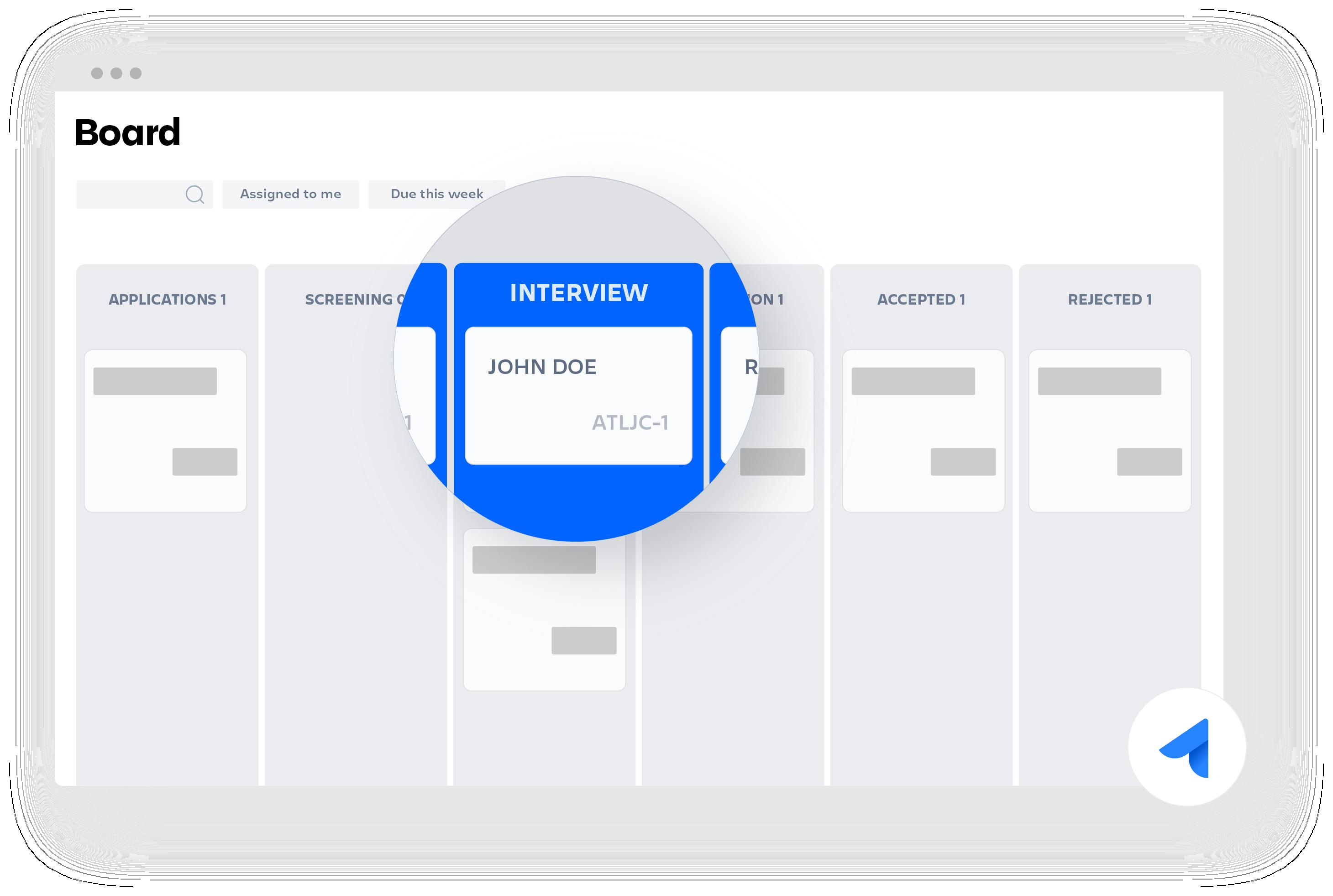 Jira Core-Board mit Vorstellungsgespräch-Diagramm