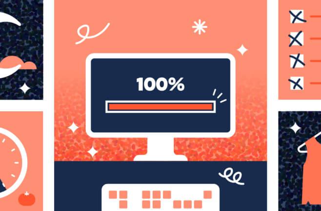 Illustration of monitor at 100%