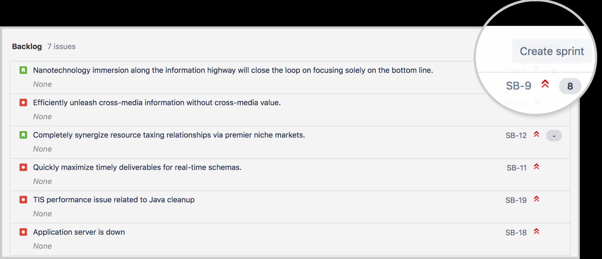 Creación de un sprint | Orientador ágil de Atlassian