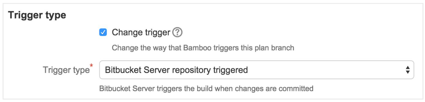 Trigger-Typ Screenshot | Atlassian CI/CD