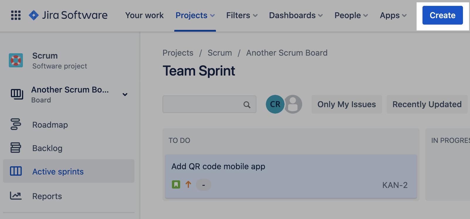 Criar um item no Jira Software