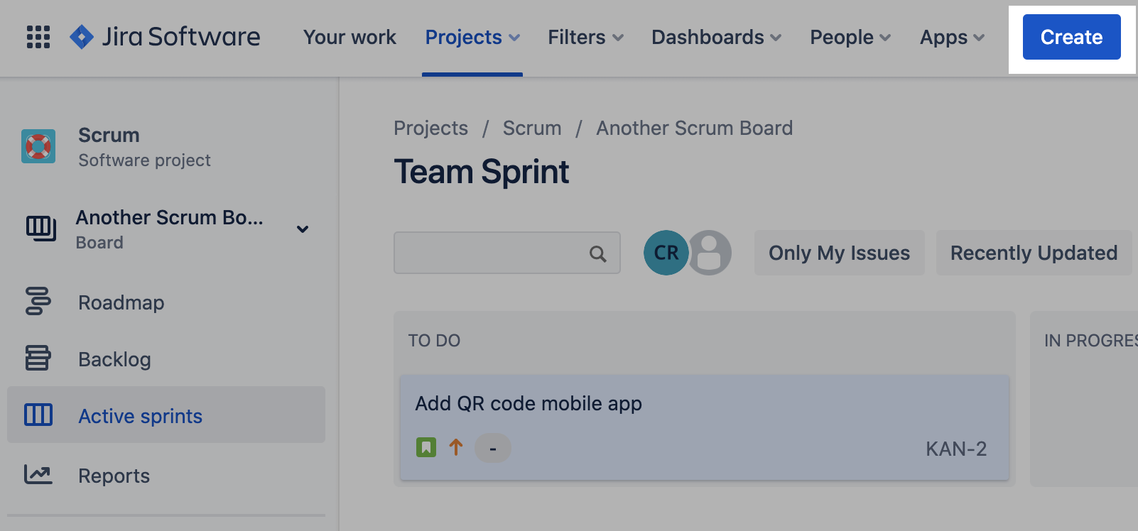 Create an Issue in Jira Software