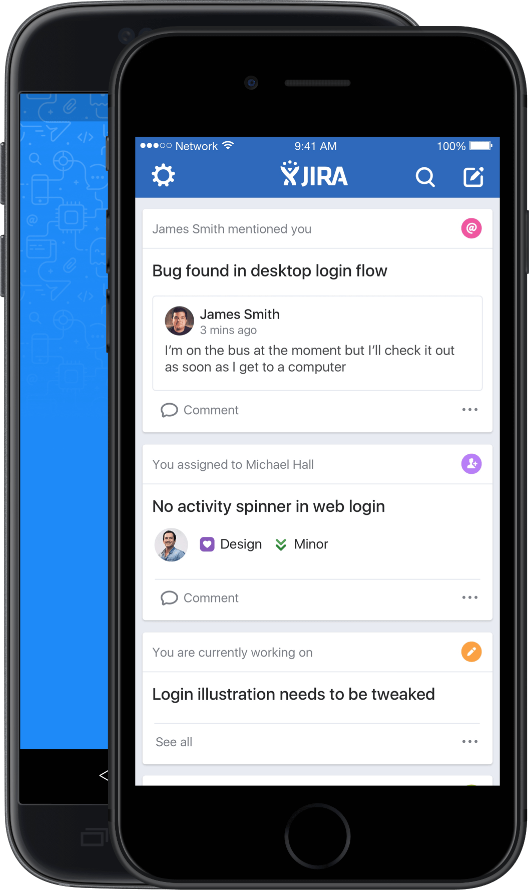 JIRA Software for iOS - Home screen