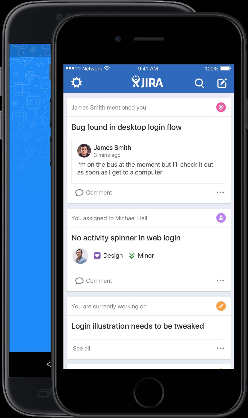 JIRA Software for iOS - Home screen