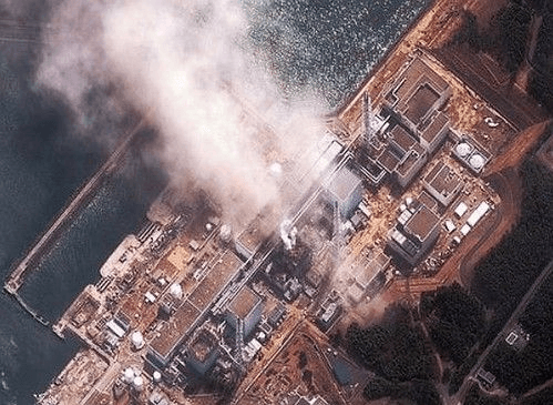 Aerial shot of Fukushima plant