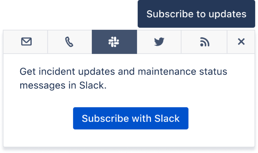 Subscription channels in Slack