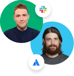 Mike Cannon-Brookes and Stewart Butterfield headshot