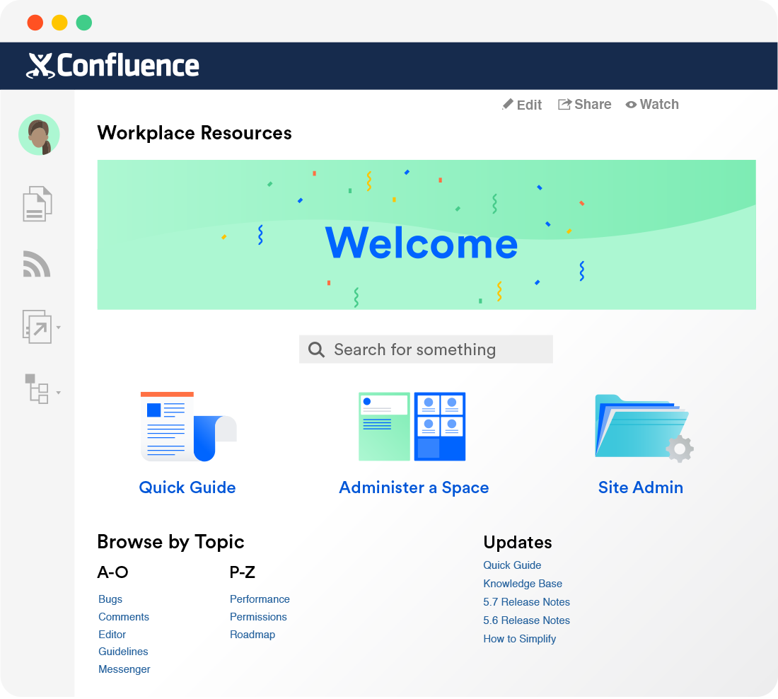 Confluence knowledge base software
