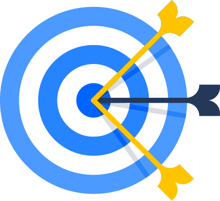 Arrows in bullseye