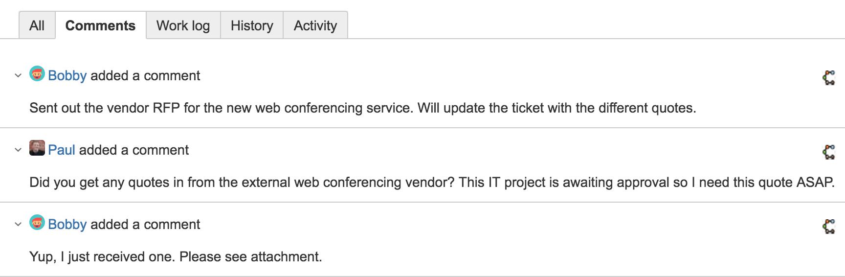 Screenshot of notification