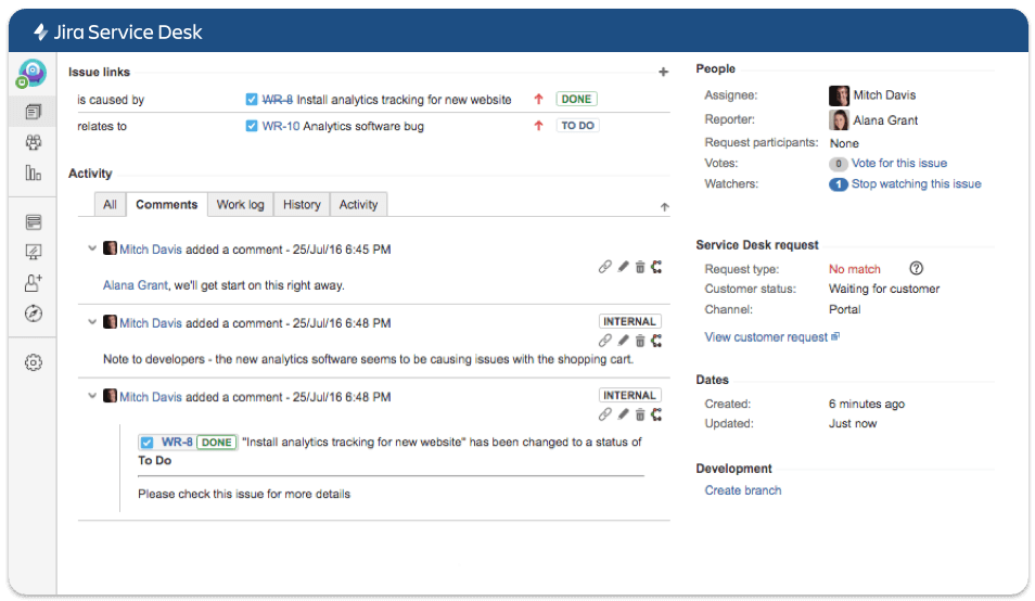 Link Jira Service Desk tickets with Jira Software issues