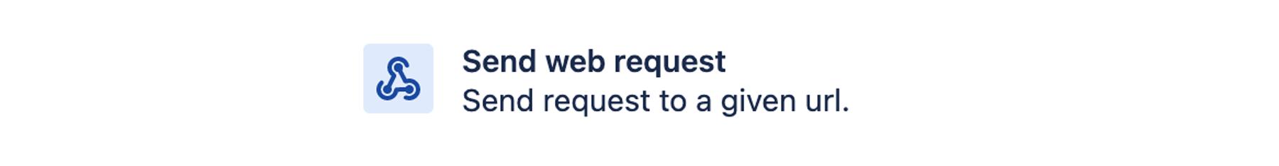 Send web request