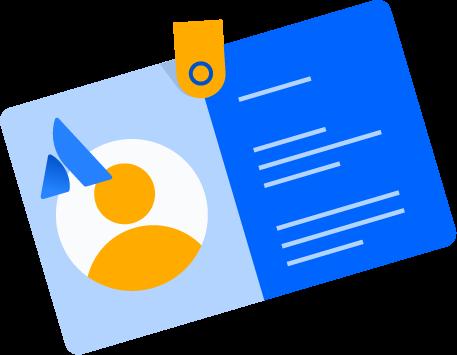 ID badge illustration