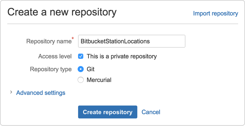 Create the repository