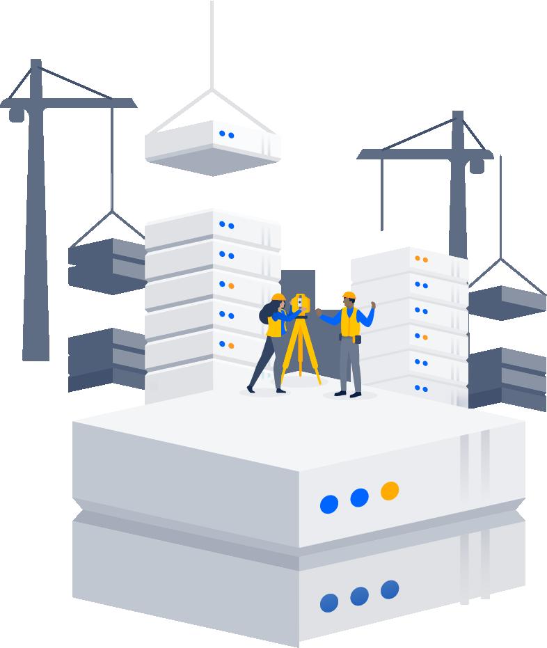 Personnes concevant un data center