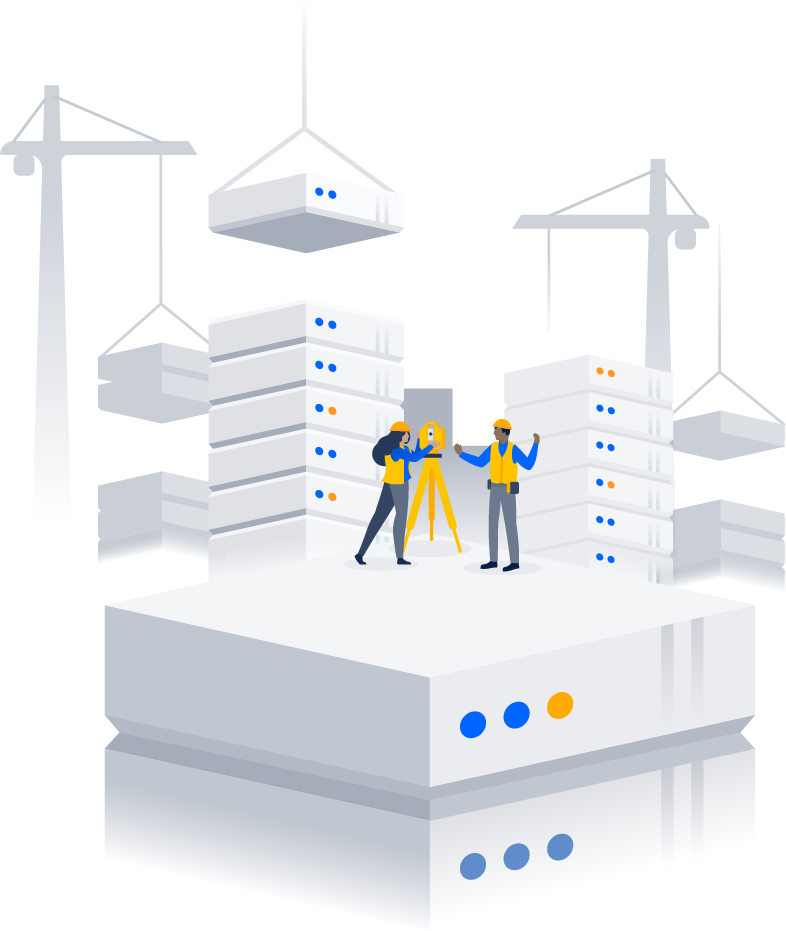 People building Data Center