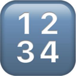 Numbers emoji