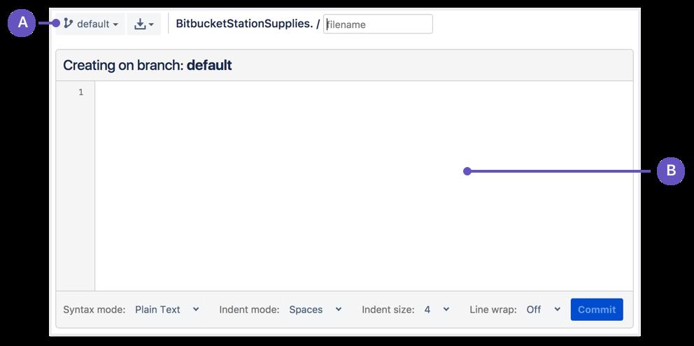 Bitbucket new file